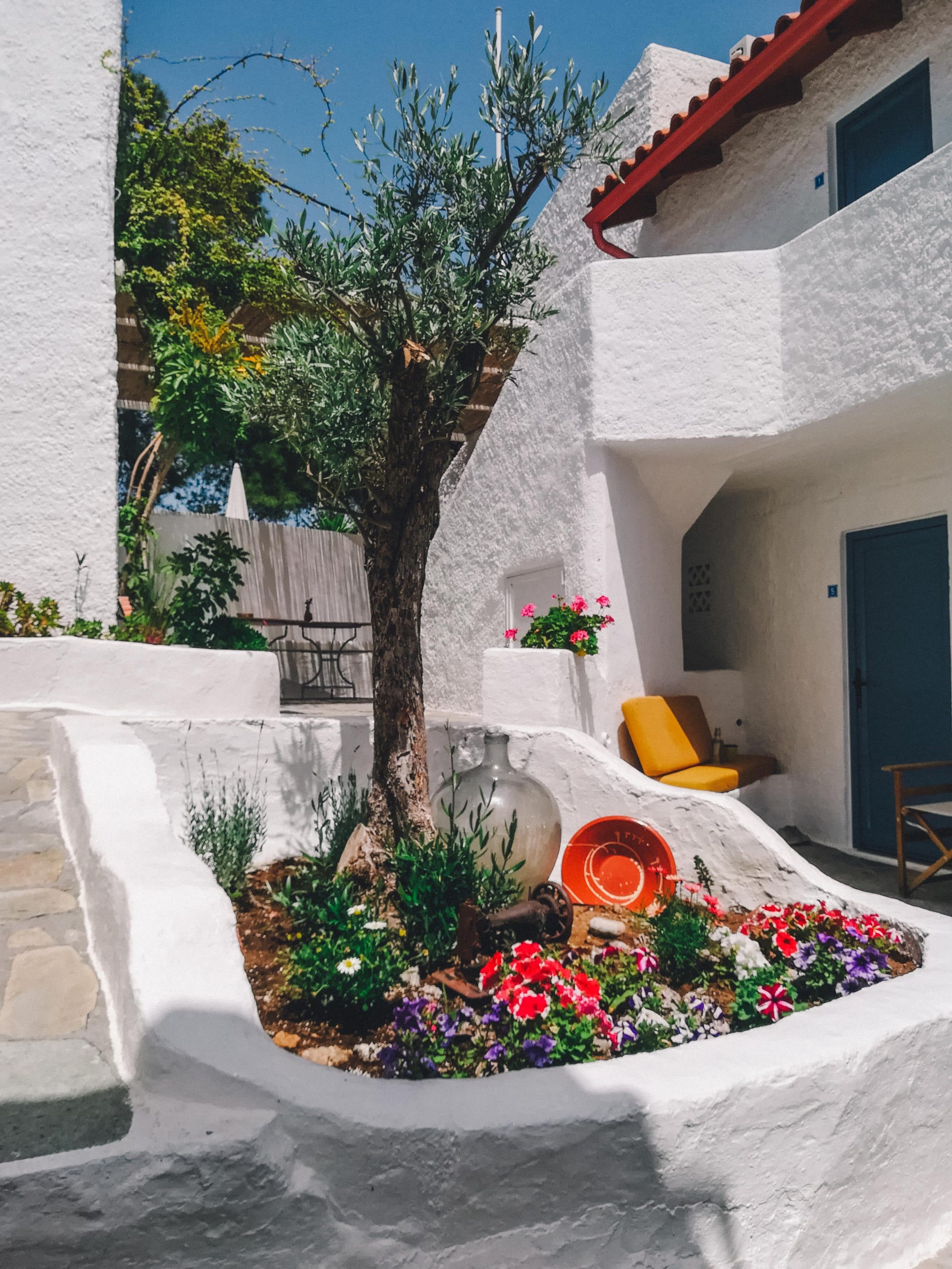 Greek Island Yoga Retreat Accommodation