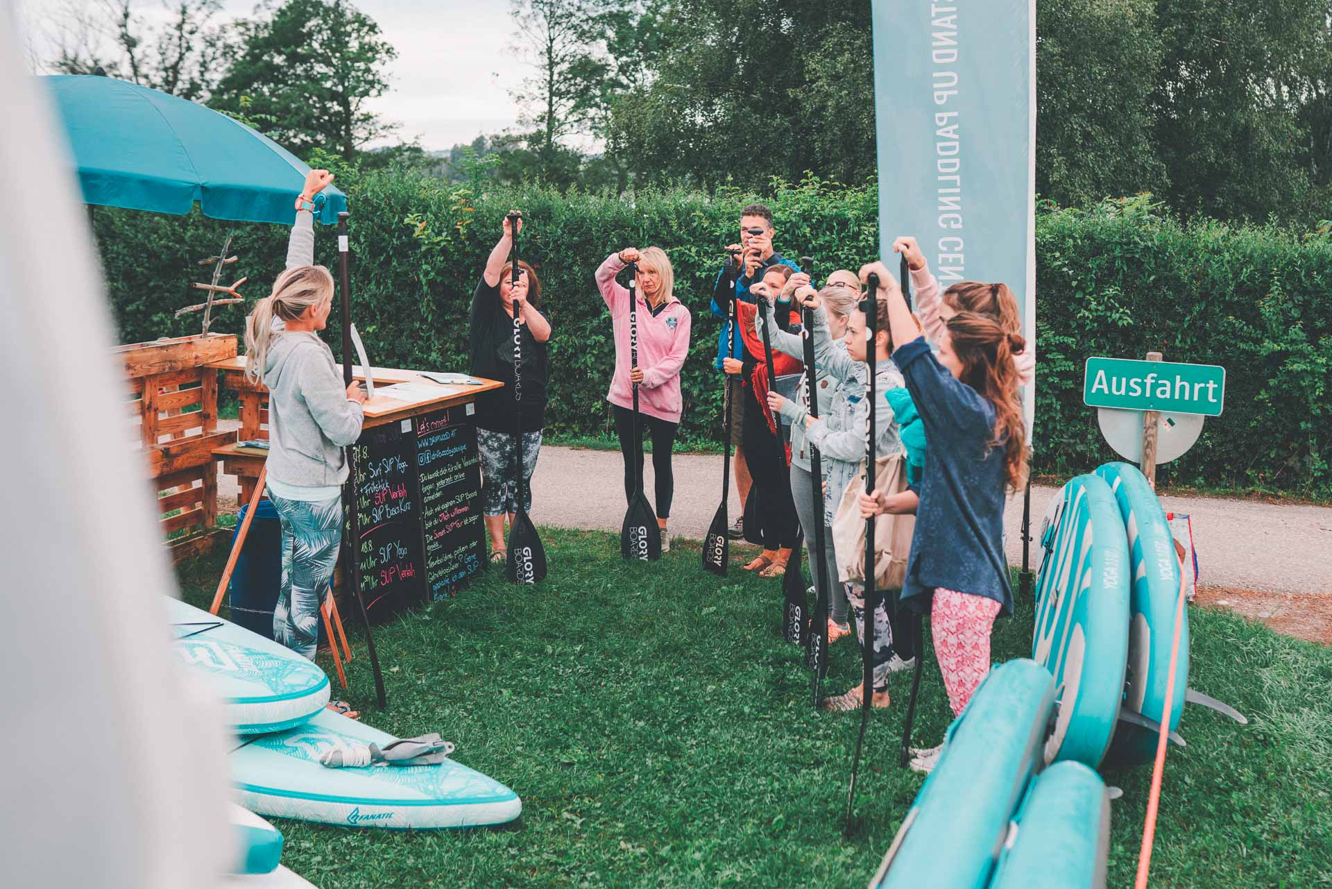 SUP Surf Yoga Breakfast Mattsee Austria