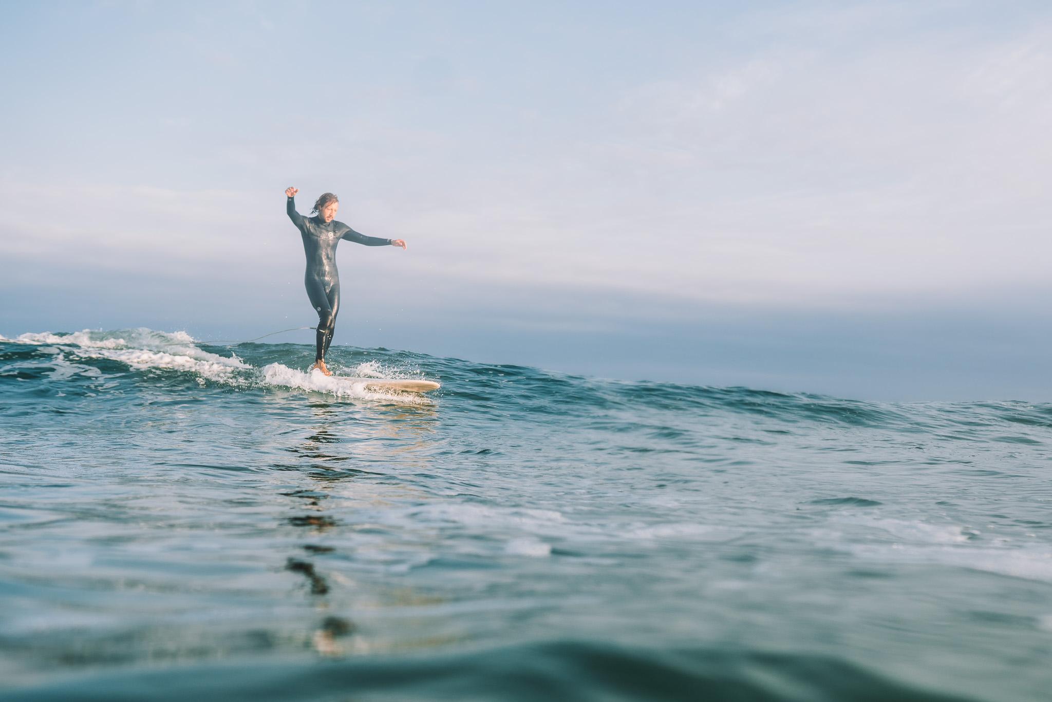 Surf Longboarding Balance Longboard Dance on Water